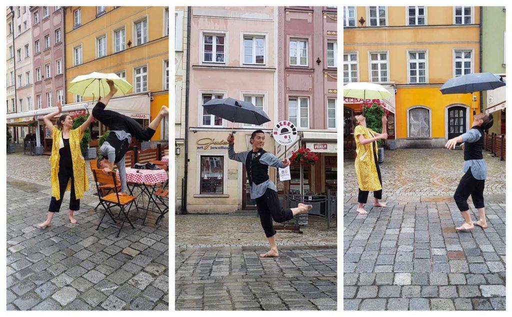 Hayatonuu... podczas pokazu ulicznego we Wrocławiu